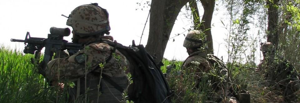 Danish soldiers in combat in Afghanistan