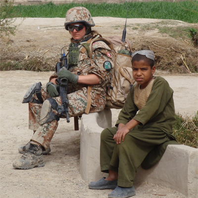 Danish female combat soldier in Afghanistan